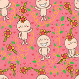 Flower baby seamless pattern Royalty Free Stock Images