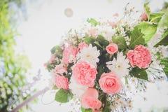 Flower backdrop wedding Royalty Free Stock Photography