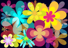 Flower background. Abstract background with color flowers Stock Photography