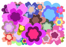 Flower background. Abstract illustration with color flower on white background Stock Photos