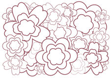 Flower background. Abstract illustration with color flower on white background Royalty Free Stock Photos