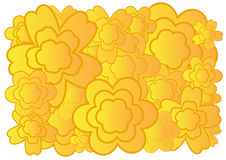 Flower background. Abstract illustration with color flower on white background Stock Images