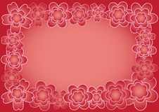 Flower background. Abstract illustration with color flower on red background Royalty Free Stock Photo
