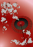 Flower background. On Japanese theme Stock Images