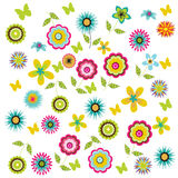 Flower background. Colorful spring flower illustration background Royalty Free Stock Images