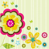 Flower background. Abstract colorful flower illustration background Royalty Free Stock Photo