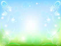 Flower background. Vector of shiny flower card Royalty Free Stock Photo