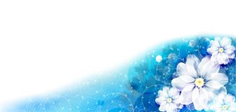 Flower background. Floral background in blue Royalty Free Illustration