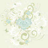 Flower background. Grunge flower background with butterfly, element for design,  illustration Royalty Free Stock Photos