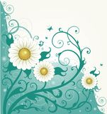 Flower background. Beautiful vector illustration, detailed drawing Royalty Free Stock Photo
