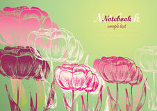 Flower background. For postcard or notebook stock illustration