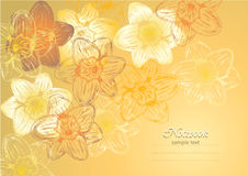 Flower background. For postcard or notebook royalty free illustration
