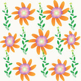 Flower background. Flower of frame on color background Royalty Free Stock Photos