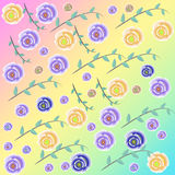 Flower background. On color background Stock Photography