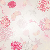 Flower background. Beautiful background with seamless pattern pink flower royalty free illustration