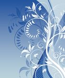 Flower background. With waves, element for design, vector illustration Royalty Free Stock Photography