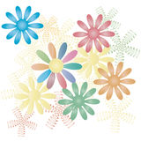 Flower background. Vector colorful flower background with white background Vector Illustration