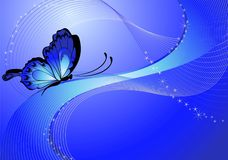 Flower background. Beautiful abstract flower background with the butterfly Stock Illustration