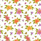 Flower background, alstroemeria Stock Photography