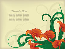 Flower background with a a beige background Royalty Free Stock Image