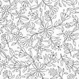 Flower background in black and white for coloring Royalty Free Stock Image