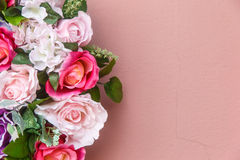 Flower background with blank wall space Stock Images
