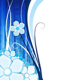 Flower for background blu. Abstract background with flowers on blu with space for text Royalty Free Stock Photography