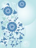 Flower background in blue Stock Images