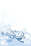Flower Background Blue Ornament Royalty Free Stock Images