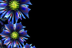 Flower background. Blue palette. Computer generated graphics. Royalty Free Stock Images
