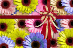 Flower Background with Bow and Ribbon for Newyear Royalty Free Stock Image