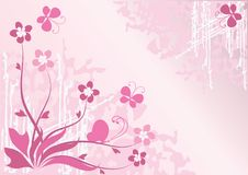 Flower background with butterflies Royalty Free Stock Images
