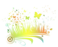 Flower background with butterfly Royalty Free Stock Photography