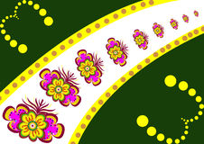 Flower Background with Butterfly Royalty Free Stock Images