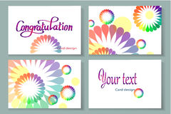 Flower background card set Stock Images