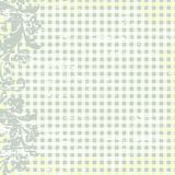 Flower background and checkered. Vector illustration of flower and checkered background Stock Image