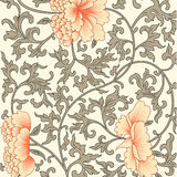 Flower background in chinese style royalty free illustration