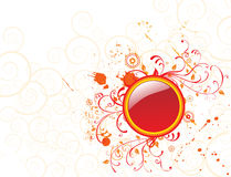 Flower background with circle. Element for design, vector illustration Stock Image