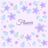 Flower background concept.  illustration Stock Images