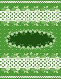 Flower background with daisies and borders Stock Images