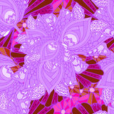 Flower background decorative doodle pattern purple. Abstract background of geometrical patterns drawing royalty free illustration