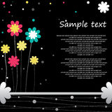 Flower background design. Flower background design for you Stock Image