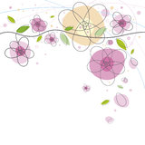 Flower background design Royalty Free Stock Images