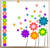 Flower background design. Flower background design Vectors illustration Stock Illustration