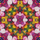 Flower background. Effect of a kaleidoscope. Stock Image