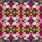 Flower background. Effect of a kaleidoscope. Stock Photo