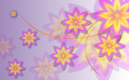 Flower Background. Flower, floral, swirl Background in gradient color Stock Images