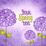 Flower background. Floral vector card. Royalty Free Stock Photo