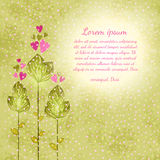 Flower background. Floral vector card. Stock Photography