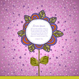 Flower background. Floral vector card. Royalty Free Stock Images